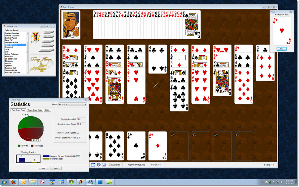 Solitaire Plus! Screen shot